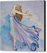 Ballerina Performs Canvas Print by Joyce Hutchinson