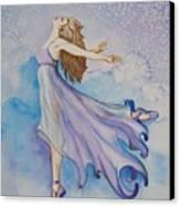 Ballerina Performs Canvas Print