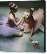 Ballerinas Get Ready For A Performance Canvas Print