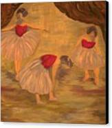 Ballerinas With Blue Hair Canvas Print