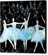 Ballet In Blue Canvas Print
