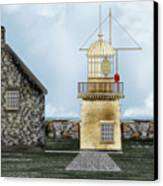 Ballinacourty Lighthouse At Waterford Ireland Canvas Print