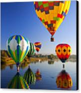 Balloon Reflections Canvas Print by Mike  Dawson