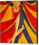 Ballroom Dancing Tango Canvas Print