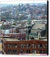 Baltimore Rooftops Canvas Print by Carol Groenen