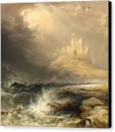 Bamborough Castle Canvas Print by Willliam Andrews Nesfield