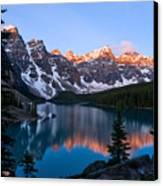 Banff - Moraine Lake Sunrise Canvas Print by Terry Elniski