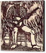 Banjo Hero Canvas Print by Mathew Luebbert