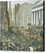 Bank Panic, 1884 Canvas Print