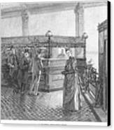 Banking, 19th Century Canvas Print by Granger