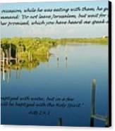 Baptized Canvas Print