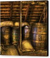 Bar - Wine Barrels Canvas Print