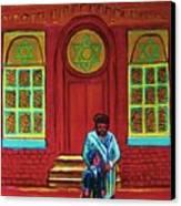 Bar Mitzvah Lesson At The Synagogue Canvas Print
