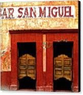 Bar San Miguel Canvas Print