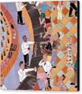 Bar Scene Canvas Print