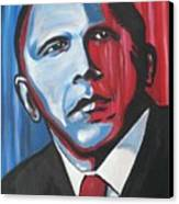 Barack Canvas Print by Colin O neill