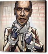 Barack Obama - Stimulate This Canvas Print by Sam Kirk