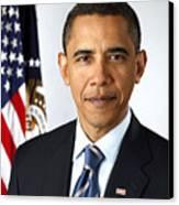 Barack Obama (1961- ) Canvas Print by Granger