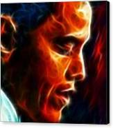 Barack Obama Canvas Print by Pamela Johnson