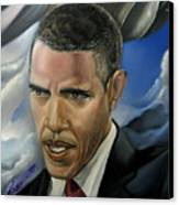Barack Canvas Print by Reggie Duffie