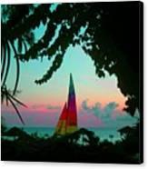 Barbados In Supercolor Canvas Print