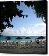 Barbados Umbrellas Canvas Print