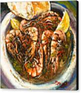Barbequed Shrimp Canvas Print by Dianne Parks
