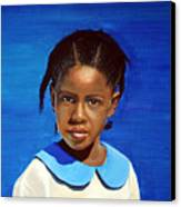 Barbuda School Girl Canvas Print