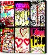 Barcelona Graffiti Wall  Canvas Print