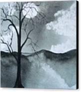 Bare Tree In Moonlight Canvas Print