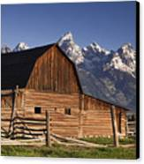 Barn In The Mountains Canvas Print