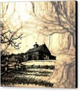 Barn Out Back 2 Canvas Print by Cheryl Young
