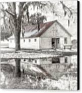 Barn Reflection Canvas Print by Scott Hansen