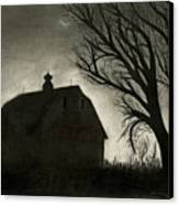 Barn Sillouette Canvas Print by Bryan Baumeister
