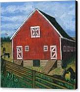 Barnyard On The Prairie Canvas Print