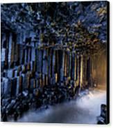 Basalt Pillars Line Fingals Cave Canvas Print