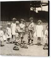 Baseball: Boys And Girls Canvas Print by Granger