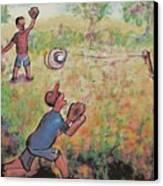 Baseball Canvas Print by Suzanne  Marie Leclair