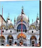 Basilica Di San Marco Canvas Print by Sarah E Ethridge