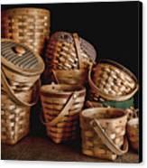 Basket Still Life 01 Canvas Print by Tom Mc Nemar