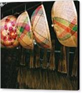 Baskets And Brooms Canvas Print