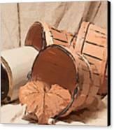 Baskets With Crock II Canvas Print