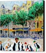 Basque Country Dancing Canvas Print