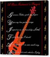Bass Guitar_1 Canvas Print by Joe Greenidge