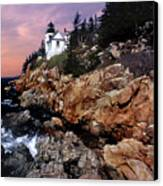 Bass Harbor Head Lighthouse In Maine Canvas Print by Skip Willits