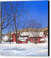 Batteases Farm In Winter Canvas Print