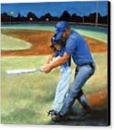 Batting Coach Canvas Print by Pat Burns