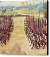 Battle Of Agincourt, 1415 Canvas Print by Granger