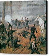 Battle Of Shiloh Canvas Print by T C Lindsay