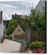 Bavarian Village With Castle  View Canvas Print